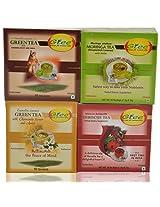 GTEE Green Tea Bags - Ginseng & Hibiscus Tea Bags & Moringa Tea Bags & Green Tea Bags-Chamomile (10 Tea Bags X 4 PACKS)