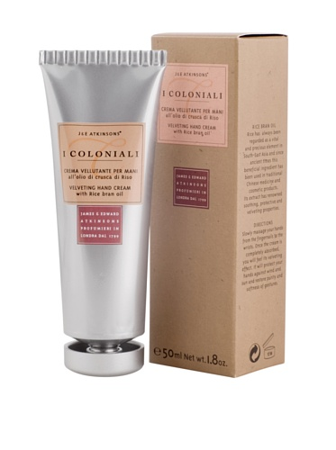 I Coloniali Set of Two Velveting Hand Cream with Rice Bran Oil, 1.8 oz. each