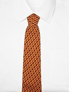 Hermès Men's Horse Tie (Orange/Black)