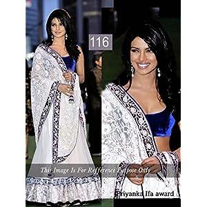 Talreja Sarees  Priyanka Chopra Lehenga - White