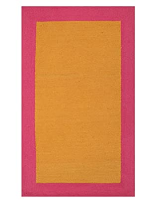 Trina Turk Rugs Bright Solid Hook Rug (Pink/Orange)