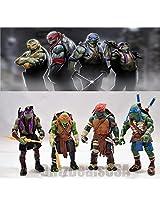 2015 Tmnt Teenage Mutant Ninja Turtles 4 Pcs Action Figures Toys Set Classic @Usa