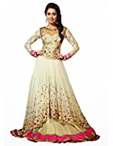 Helix New Exclusive Heavy Designer White Gorgeous Anarkali Suits