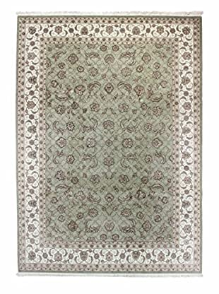 Bashian Rugs One-of-a-Kind Hand Knotted Rug, Light Green, 8' 6