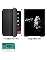 Universal Music Officially Licensed Lady Gaga -Style 3 Tablet Designer BLACK SMART CASE for APPLE IPAD AIR2,