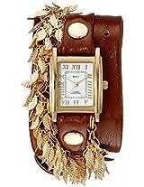 La Mer Collections Women's LMCW9002 Analog Display Japanese Quartz Brown Watch