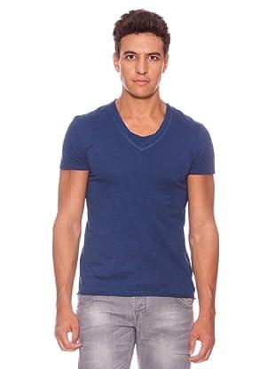 Camiseta Con Pico Manga Corta Minnesota (Azul)