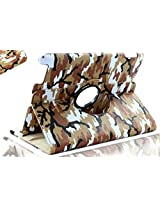 SANOXY 360 Degrees Rotating Stand PU Leather Case for iPad 2/3/4, iPad 2nd generation (iPad 2/3/4 CAMOUFLAGE ARMY BROWN)