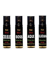 Fragrance and Fashion Pack of 4 different exclusive perfume of 135 ml each