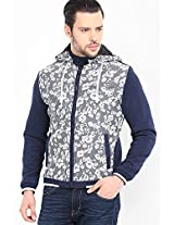 Printed Grey Casual Jacket