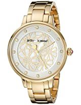 Betsey Johnson Women's BJ00501-10 Analog Display Quartz Gold Watch