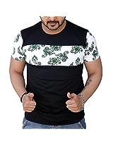 Black Collection Men's Round Neck Cotton T-Shirt (BCSA0023_Black_Medium)