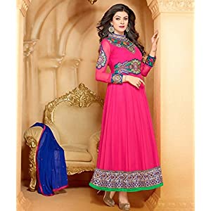 Pink Sushmita Sen Anarkali Suit