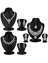Sukkhi Fascinating 3 Piece Necklace Set Combo [Jewellery]