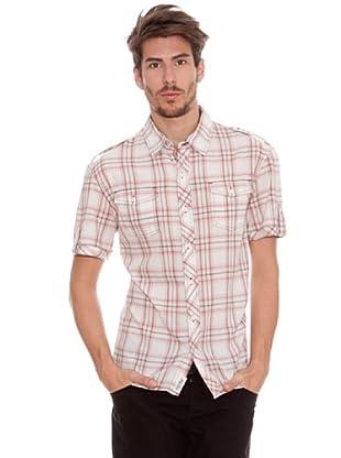 Timeout Camisa Bordado (blanco / rojo)