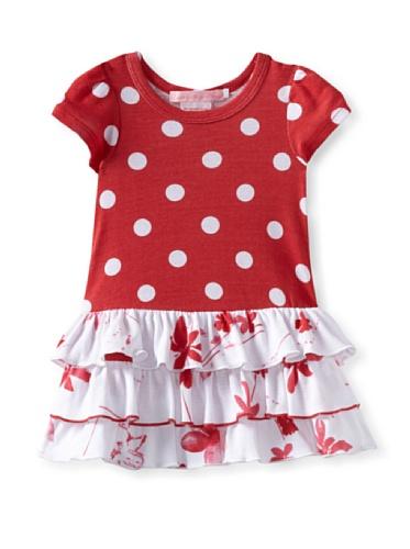 Baby Nay Short Sleeve Ruffle Dress (Watercolor Pond)