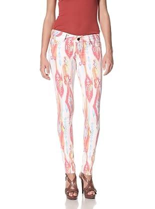 Black Orchid Women's Black Jewel Skinny Leg Zuni Print Jean (White)