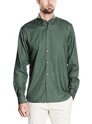 Pedro del Hierro Camisa Hombre Italprint Geo Verde T-Spr