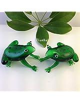 4pcs/lot 3.5*5.5cm Handmade Colored Glaze Crystal Glass Frog