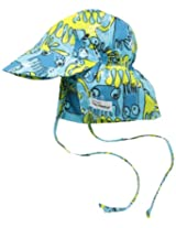 Flap Happy Baby Boys' UPF 50+ Original Flap Hat with Ties, Crazy 8'S, X Small