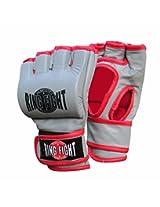 Ceela Sports Ring Fight Grappling Gloves Grey/Red Medium