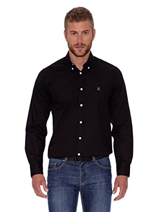 Polo Club Camisa Fitted Escudo (Negro)