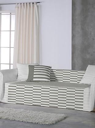 ANGEL SCHLESSER Foulard Basic (gris / blanco)