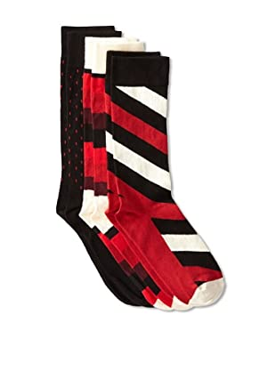 Happy Socks Men's Multi Socks (3 Pairs) (Red/White/Black)