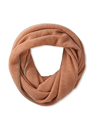 Qi Cashmere Women's Birds Eye Cashmere Infinity Scarf (Apricot/Natural)