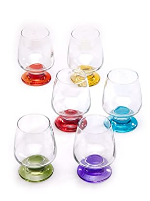 Tognana Set 6 Bicchieri Calice Colorati