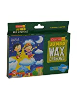 Stationery Jumbo Wax Crayons 12 Assorted Crayons, 1 Glitter Crayon