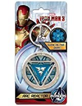 Marvel Comics Iron Man 3 - Arc Reactor (Glow in The Dark) Pewter Keychain/Key Ring (with Gift Box)