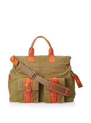 Bosca Men's Correspondent Excursion Bag (Chestnut/Olive)