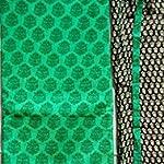 Green and black color chanderi silk Dress Material