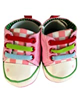 Cute Frog Design Pink Smart Shoes for Baby Girls [Apparel]
