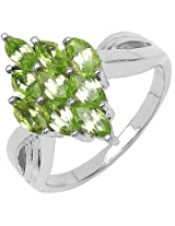Silverona Peridot Silver Ring