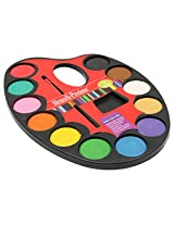Big Bazaar Colour Palate (12 Shades) with Brush - Plastic - Multicoloured