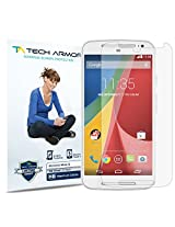 Tech Armor Motorola Moto G (2014) High Defintion (HD) Clear Screen Protectors - Maximum Clarity and Touchscreen Accuracy [3-Pack] Lifetime Warranty