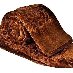 Repose Double Bed Premium Mink Blanket (Maroon)