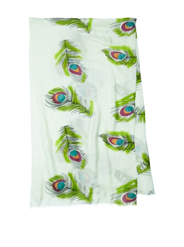 Lulla by Bindya Women's Peacock Scarf, Green