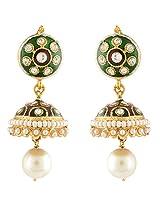 Nakshatra Collection Golden Copper Jhumki For Women