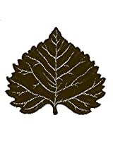 Heritage Lace Aspen Leaf 14-Inch by 16-Inch Placemat, Earth, Set of 2