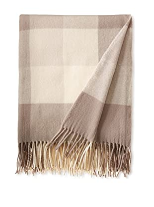 BRUN DE VIAN-TRIAN Merino Plaid Throw, Aurore