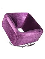 Bluebell Single-Seater Square Sofa - Purple