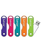 LexarTM JumpDrive® TwistTurn USB Flash Drive, 64GB, Assorted Colors (No Color Choice) - Easily slips onto a keychain or into a bag, so it's always with you without being in the way (1 unit)