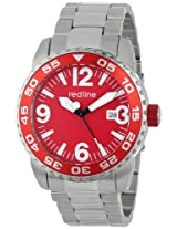 red line Men's RL-60016 Ignition Analog Display Japanese Automatic Silver Watch