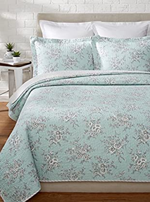 Laura Ashley Cielo Quilt Set
