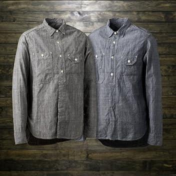 40s Organic Work Shirt SN-08SS-06: Sumi, Indigo