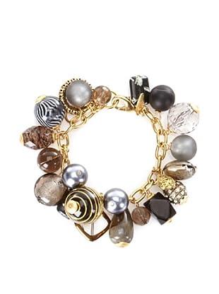 Lenora Dame Black Classic Charm Bracelet