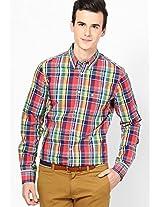 Multi Checks Slim Fit Casual Shirt
